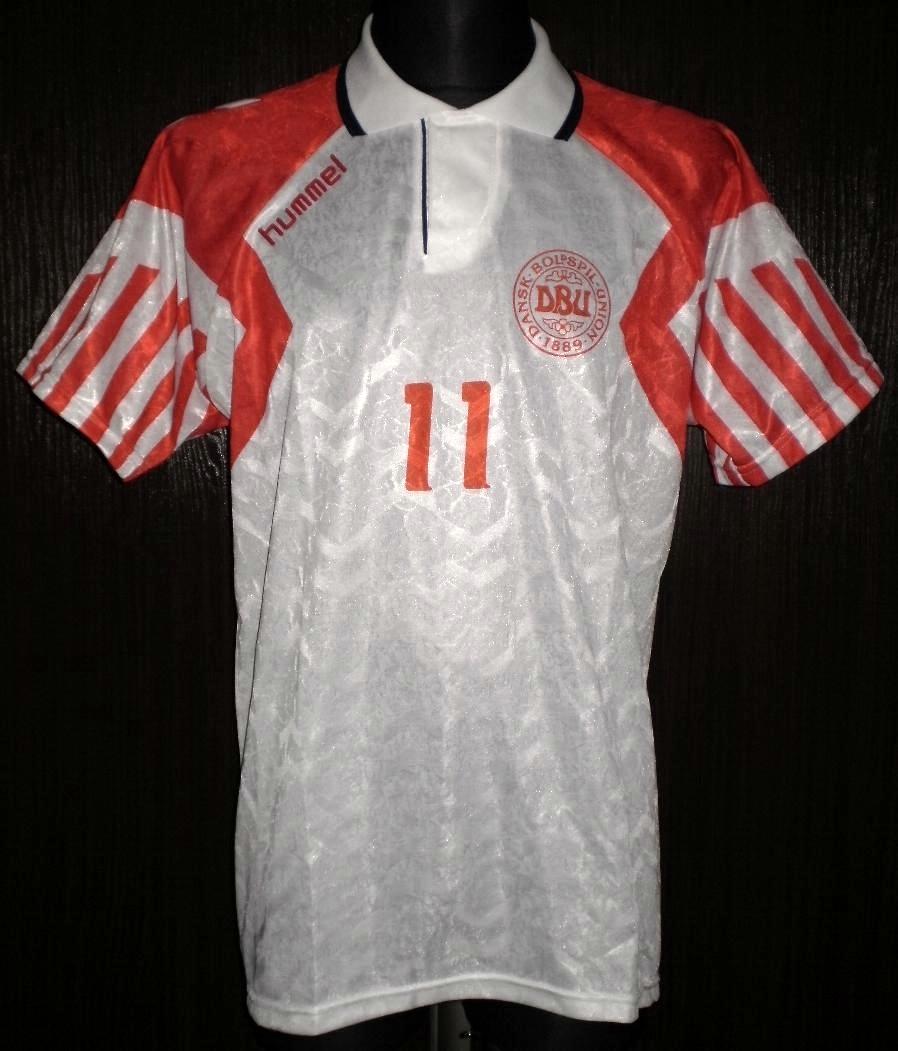 Denmark Away camisa de futebol 1992 - 1994. 90fe06229