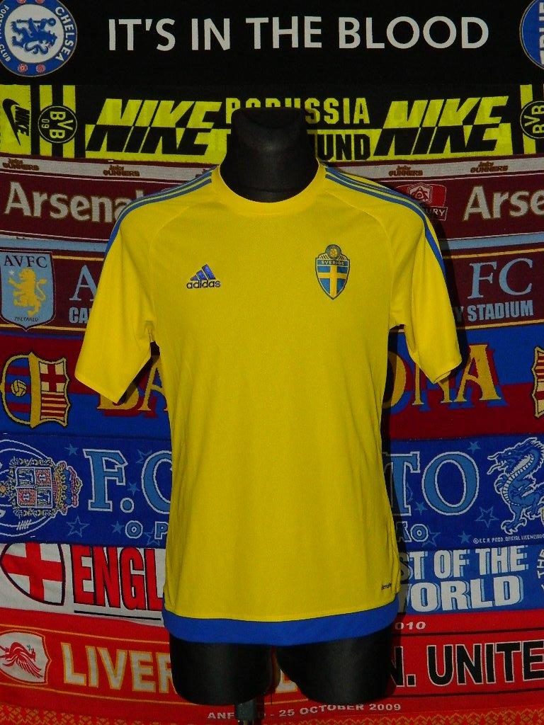0292d49dc56 New Season Sweden Home football shirt 2018 - 2019.