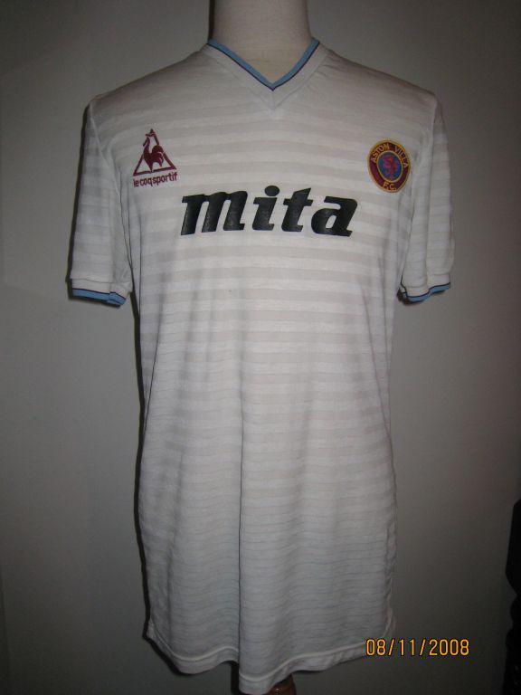 Aston Villa Away Football Shirt 1984 1985 Sponsored By Mita