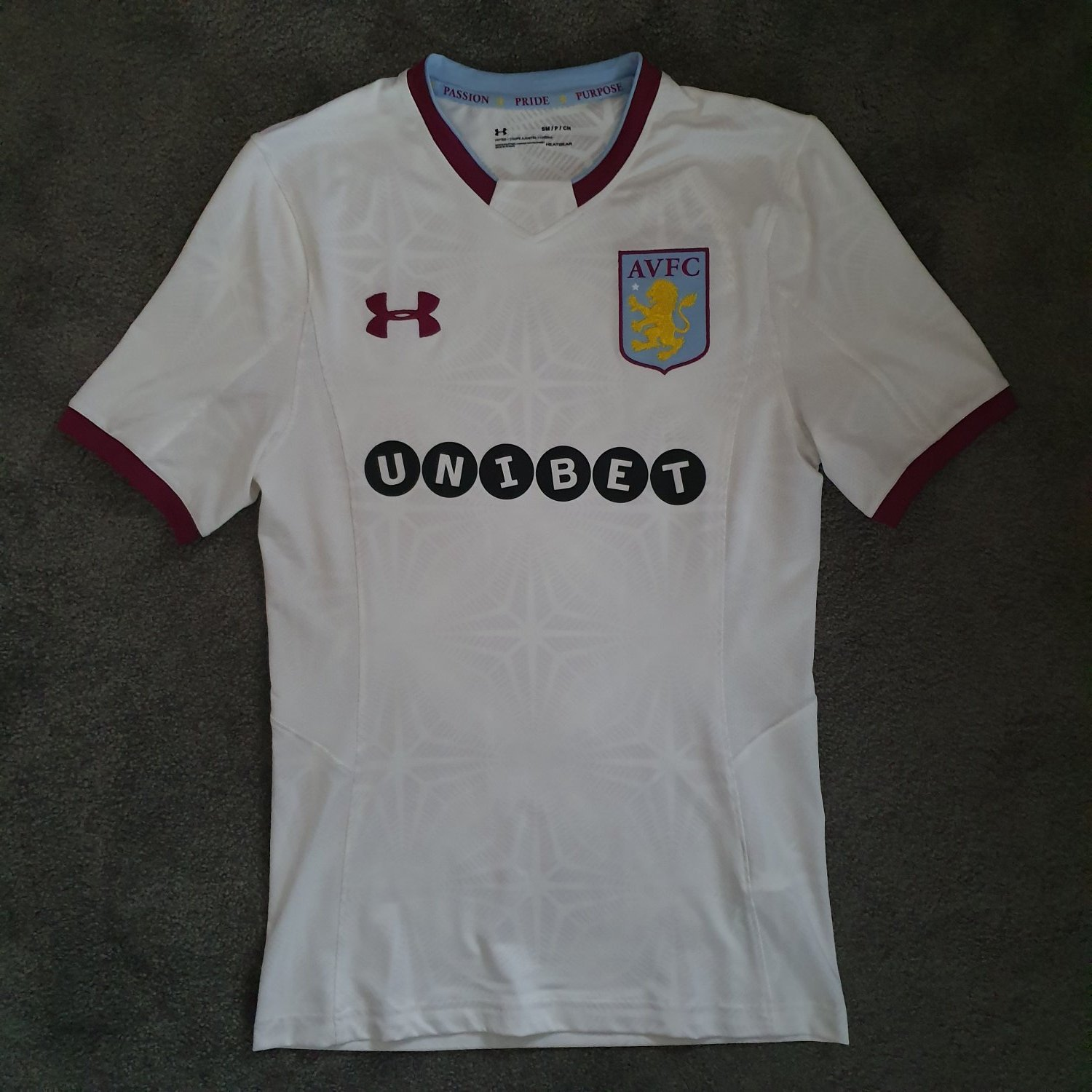 Aston Villa Third Football Shirt 2017 2018 Sponsored By Unibet