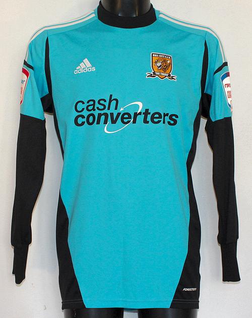 Hull City Goalkeeper maglia di calcio 2012 - 2013. Sponsored by Cash ... 5e6f35918