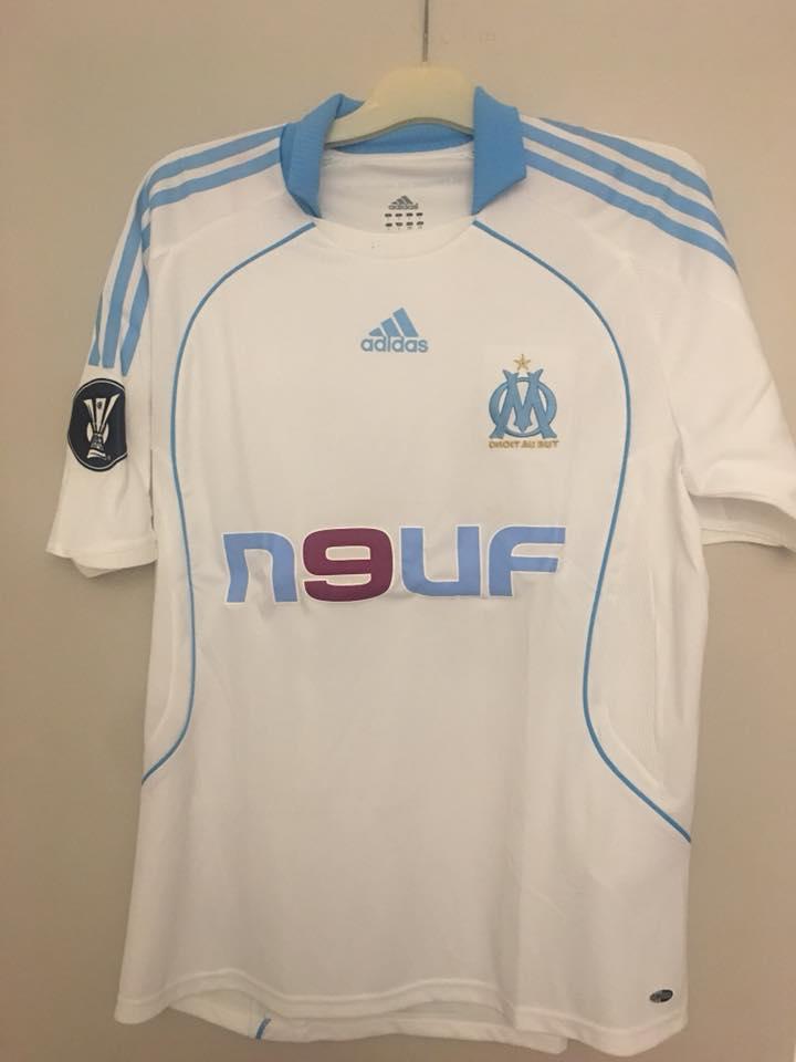 Olympique Marseille Home camisa de futebol 2008 - 2009 ... d835cad303dbe