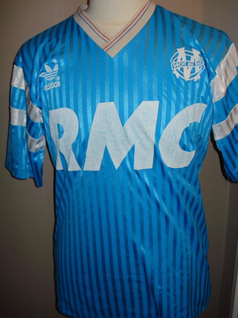 Olympique Marseille Maglia da trasferta maglia di calcio 1989 ...