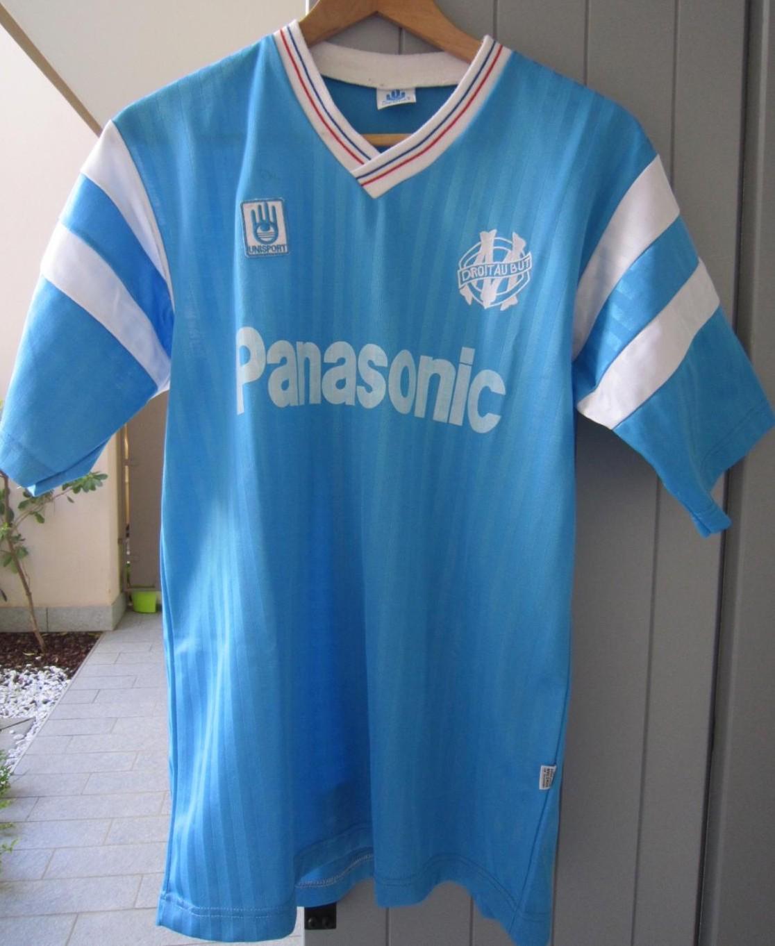 Olympique marseille ext rieur maillot de foot 1989 1991 for Maillot exterieur