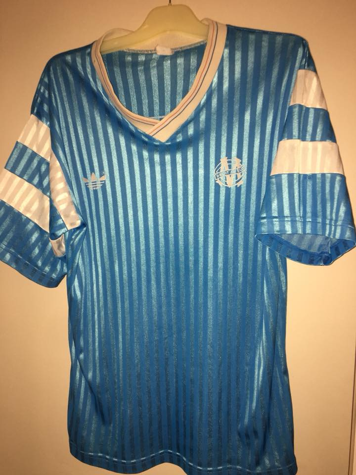 Olympique Marseille Away football shirt 1990 - 1991. Sponsored by ...