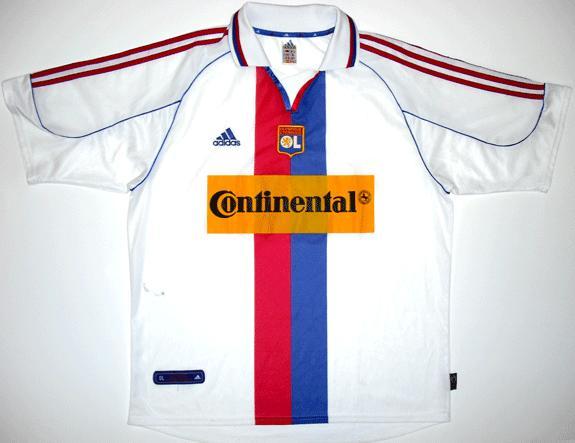 Olympique Lyonnais Home maglia di calcio 2000 - 2001. Sponsored by ...