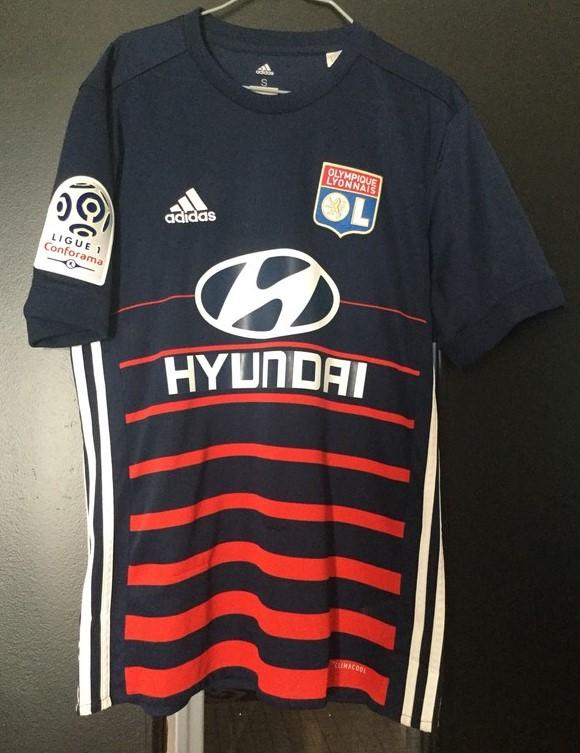 9fc0941ff9d Olympique Lyonnais Away baju bolasepak 2017 - 2018. Sponsored by Hyundai