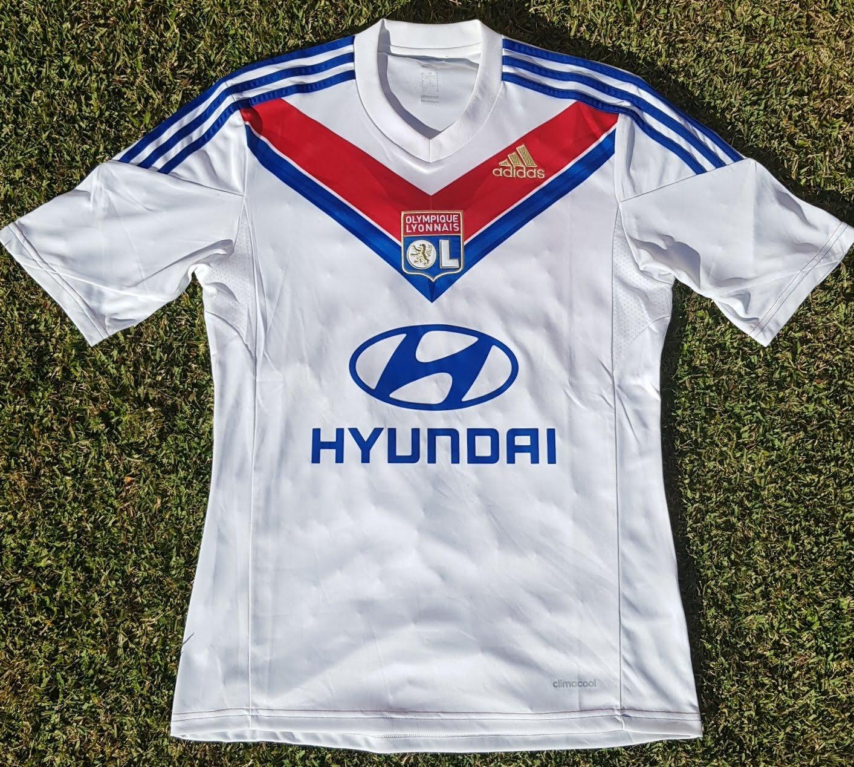 Olympique Lyonnais Home football shirt 2013 - 2014. Sponsored by ...