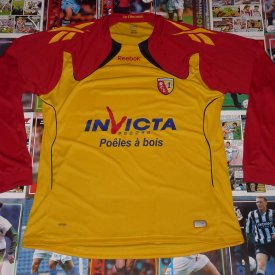 Lens Home maglia di calcio 2010 - 2011 sponsored by Invicta France