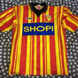 Lens Home maglia di calcio 1995 - 1996 sponsored by Shopi
