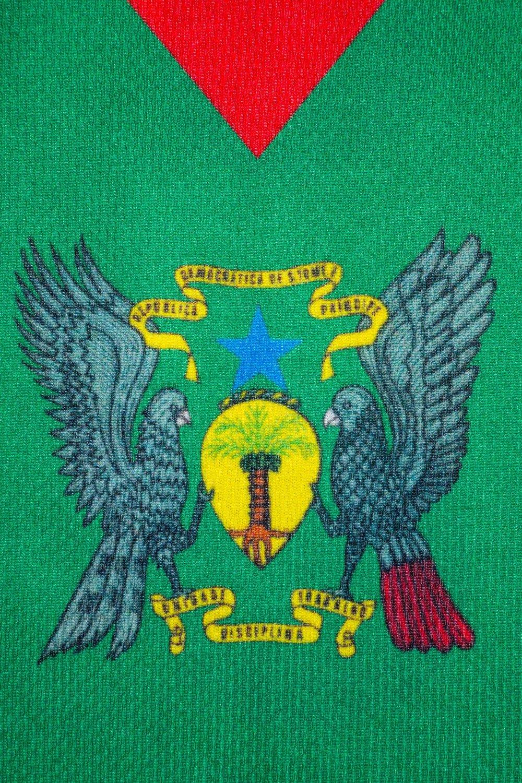 Official Sao Tome /& Principe national football soccer away shirt jersey L