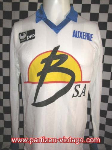 Auxerre Home Fußball-Trikots 1989 - 1990