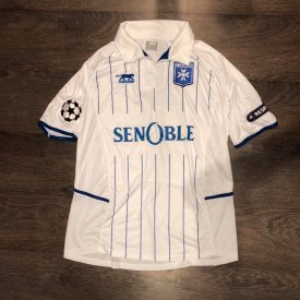 Auxerre Home Fußball-Trikots 2010 - 2011 sponsored by Senoble