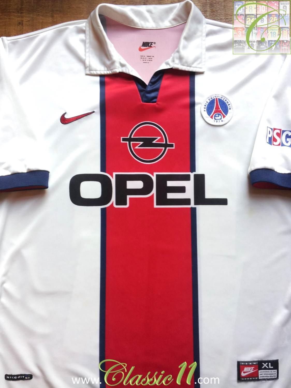 ebac79c4e Paris Saint-Germain Away חולצת כדורגל 1998 - 1999.
