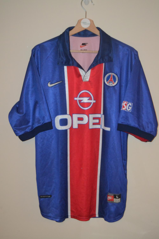 Paris Saint-Germain Home maglia di calcio 1998 - 1999. Sponsored ...