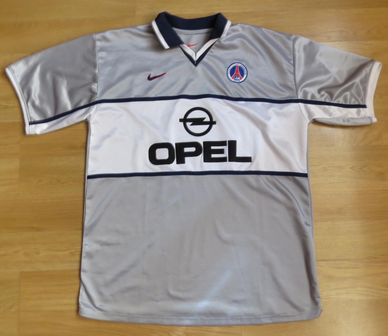 Paris Saint-Germain Maglia da trasferta maglia di calcio 2000 ...