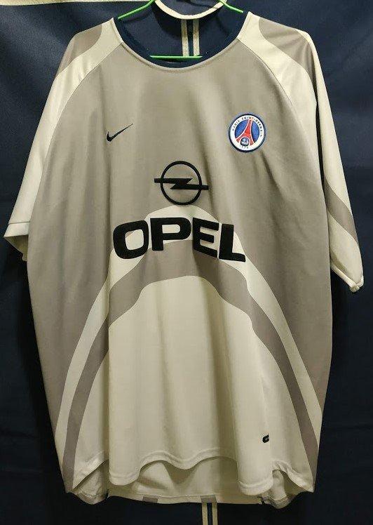 Paris Saint-Germain Maglia da trasferta maglia di calcio 2001 ...