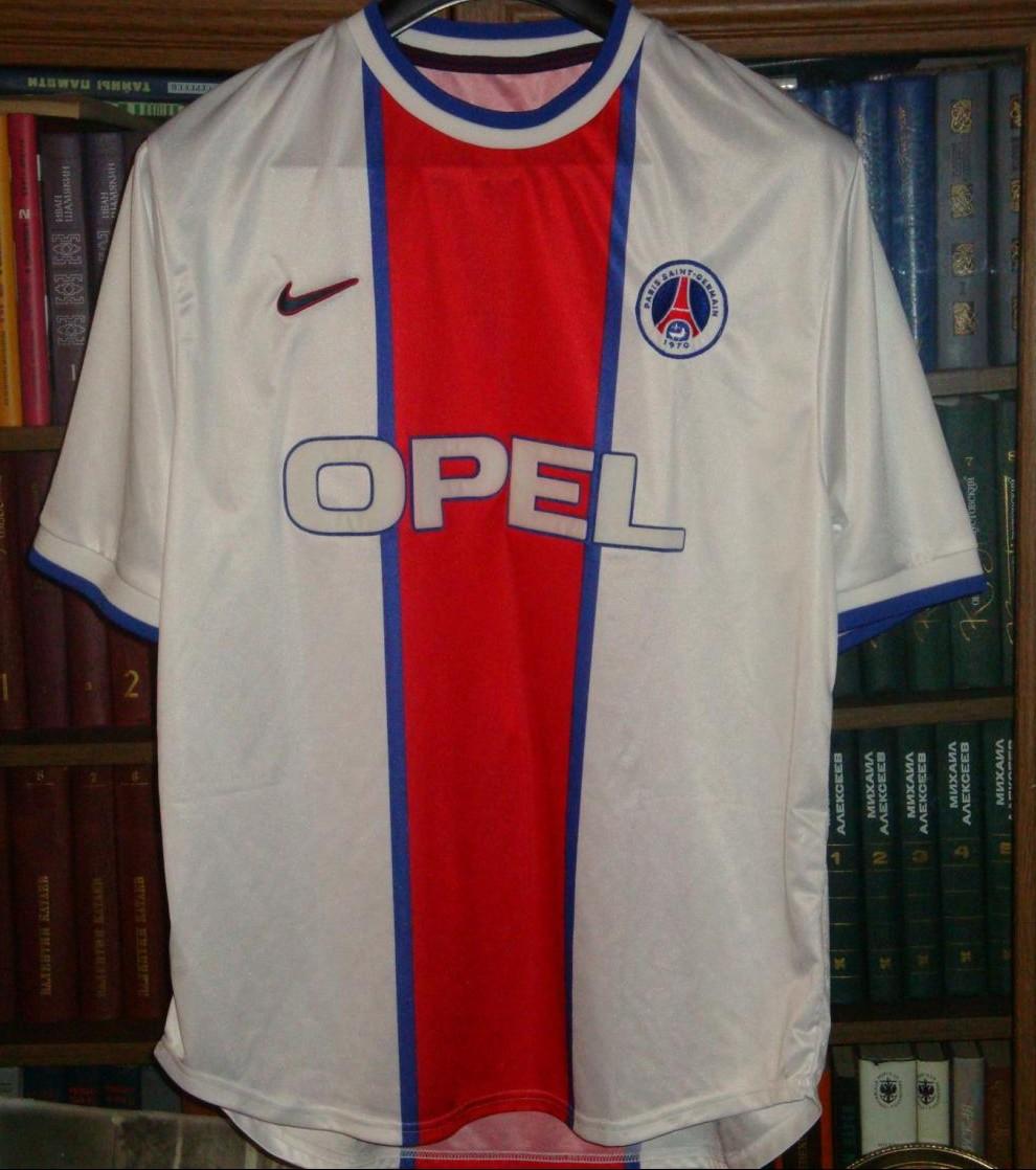 Paris Saint-Germain Especial camisa de futebol 1999. Sponsored by Opel