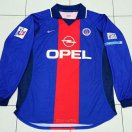 Paris Saint-Germain football shirt 2000 - 2001