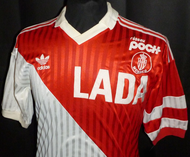 Monaco Home football shirt 1990 - 1991.