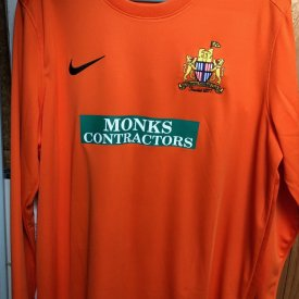 Clitheroe Gardien de but Maillot de foot 2020 - 2021 sponsored by Monks Contractors