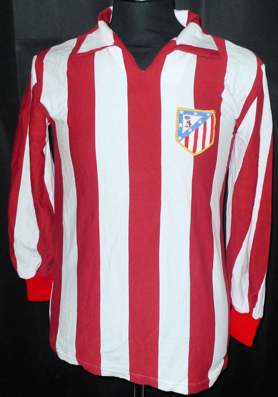 Atletico Madrid Home Camiseta de Fútbol 1975 - 1977.