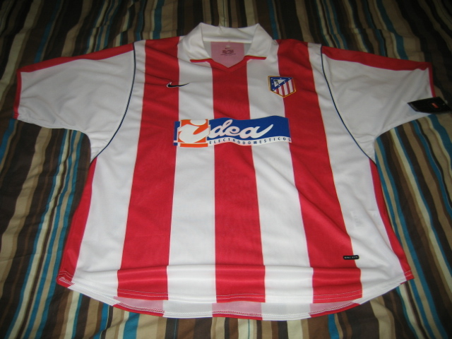 Atletico Madrid Home Camiseta de Fútbol 2001 - 2002.