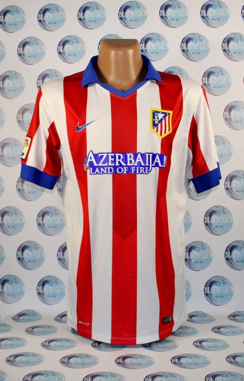 Sponsor Nike 2014-15 Atletico Madrid Home Football Soccer T-Shirt Camiseta