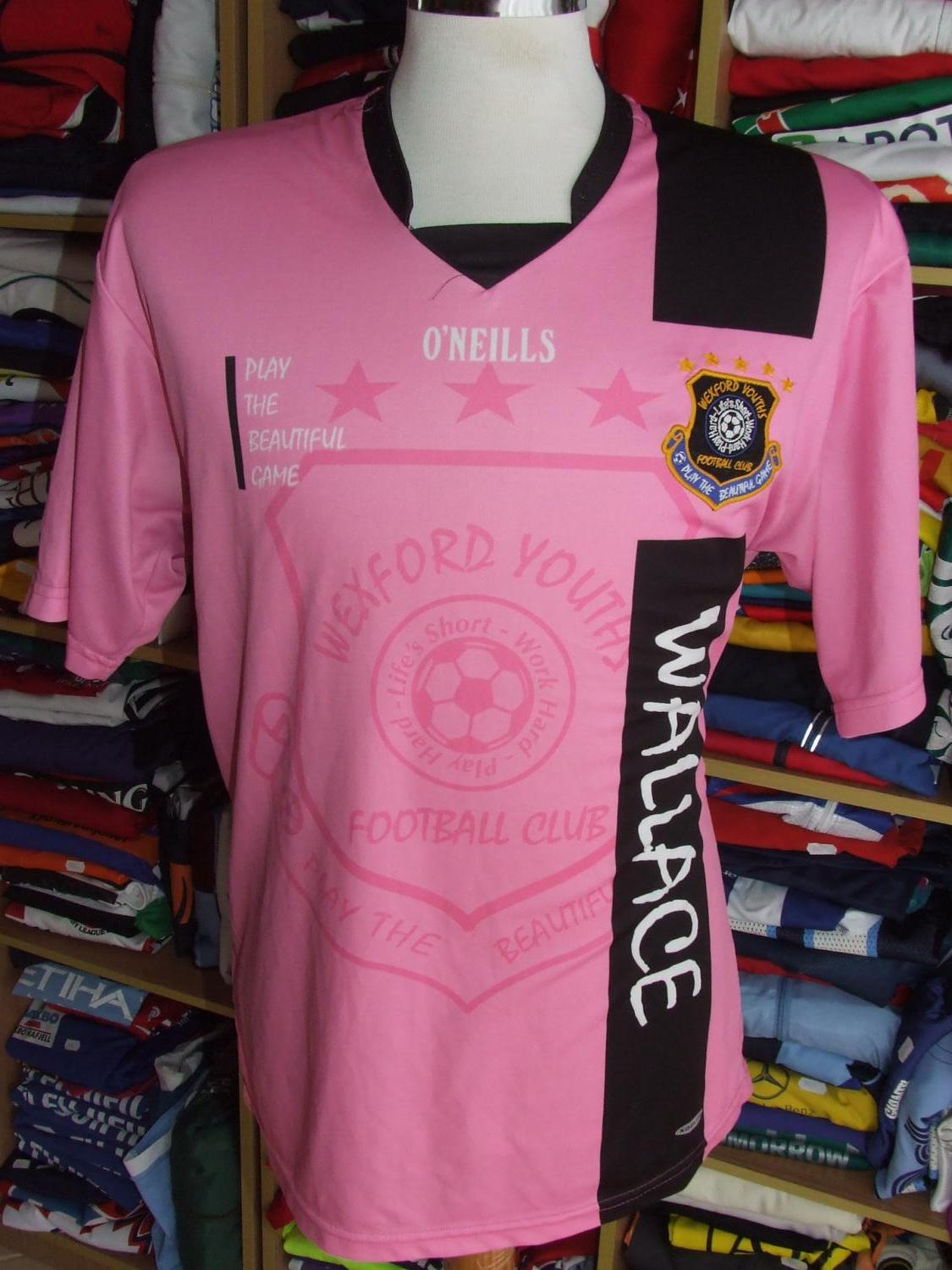 Wexford Youths F C Home Football Shirt 2010 2011