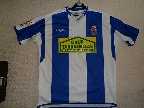 b62f9da04a0 Espanyol Home camisa de futebol 2004 - 2006.