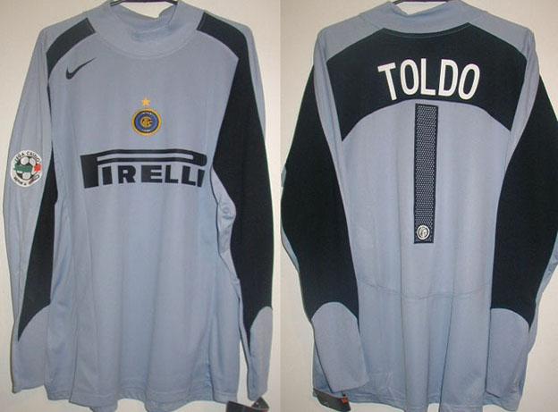 premium selection 08cf4 7b427 Internazionale Goalkeeper camisa de futebol 2004 - 2005.