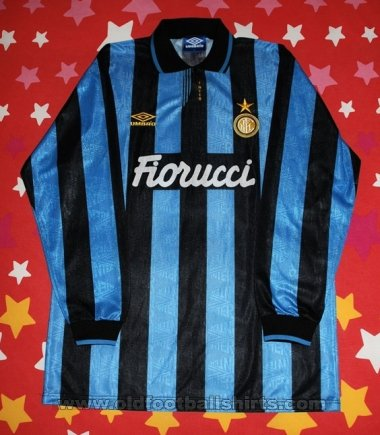 Internazionale Home חולצת כדורגל 1992 - 1994