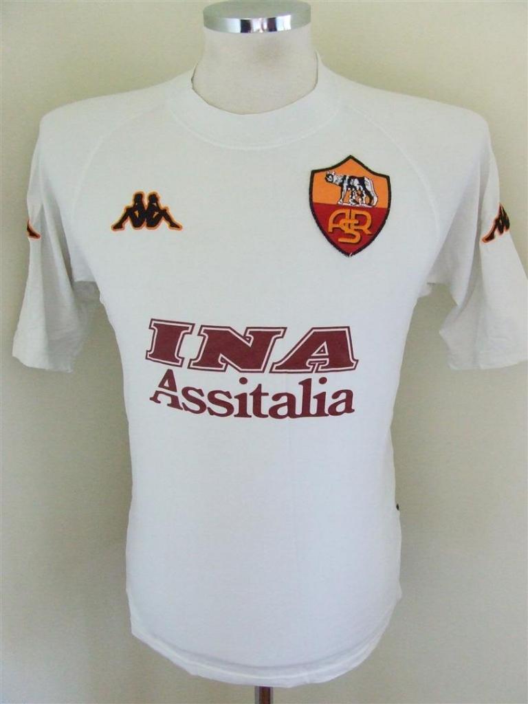 Roma Away football shirt 2000 - 2001. Sponsored by INA Assitalia