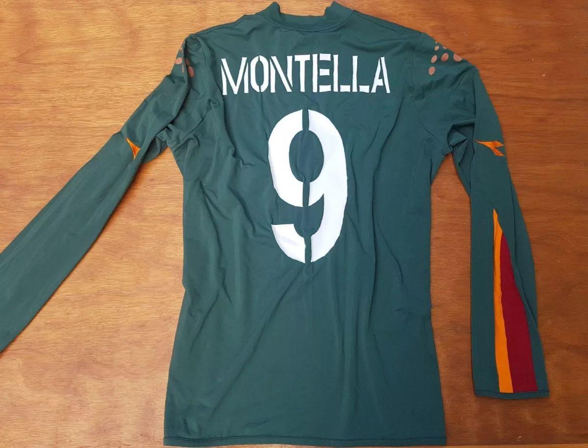 maglia roma Montella 2003 2004 Diadora L mazda Jersey home Original Serie A