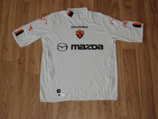 maglia roma De Rossi 2003 2004 Diadora mazda Jersey Away Original UEFA CUP