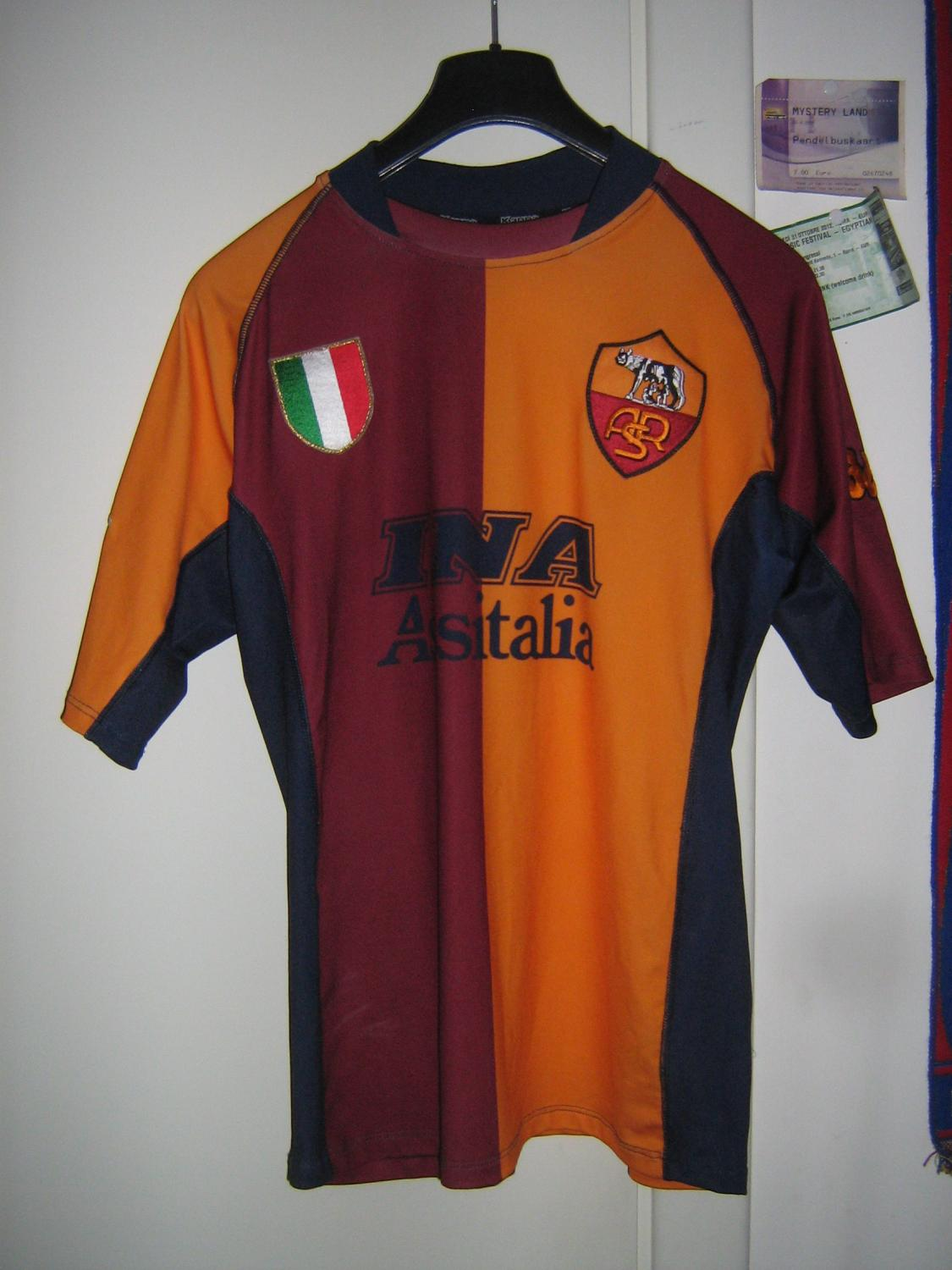 Roma Cup Shirt Football Shirt 2001 2002 Added On 2013