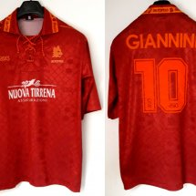 Roma Home Maillot de foot 1994 - 1995 sponsored by Nuova Tirrena