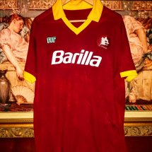 Roma Home Maillot de foot 1987 - 1988 sponsored by Barilla
