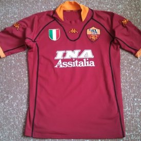 Roma Home Maillot de foot 2001 - 2002 sponsored by INA Assitalia