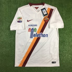 Roma Away football shirt 2014 - 2015 sponsored by Telethon