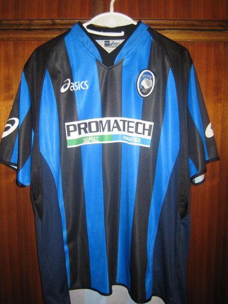 atalanta home camisa de futebol 2002 2003 atalanta home camisa de futebol 2002