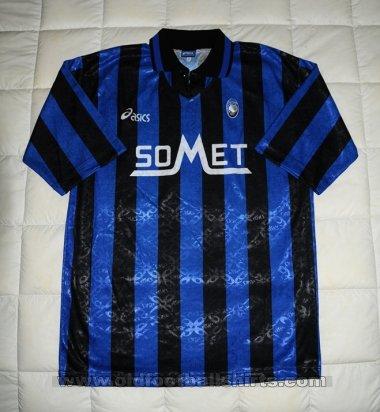 Atalanta Home maglia di calcio 1995 - 1996.