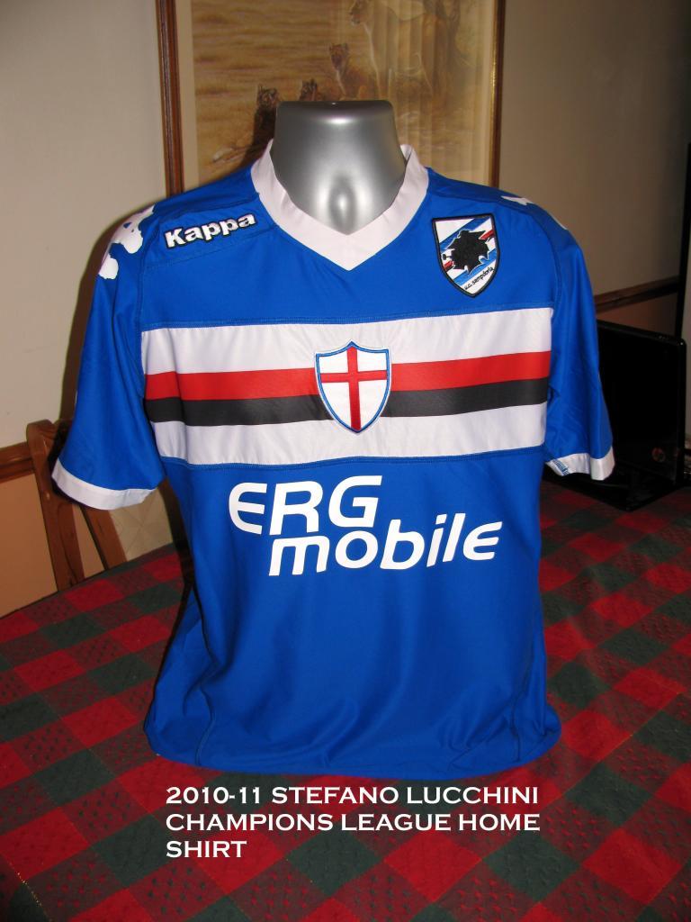Sampdoria Cup Shirt Maglia Di Calcio 2010 2011