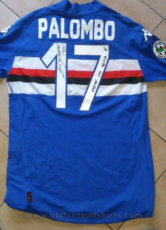 Sampdoria Home футболка 2009 - 2010