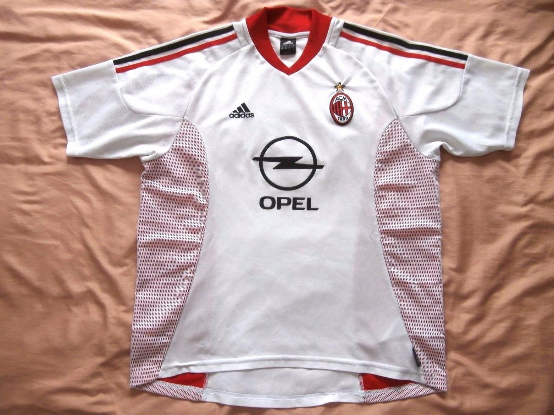 AC Milan Away camisa de futebol 2002 - 2003. Sponsored by Opel 095cc8d0a