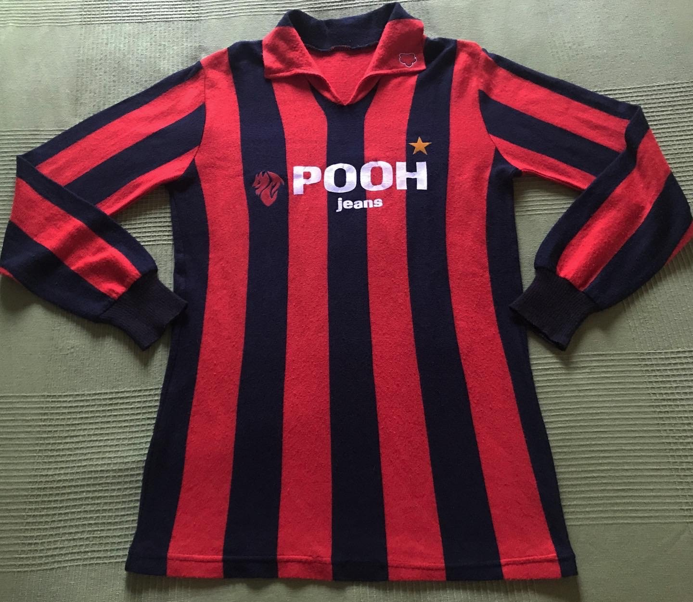 AC Milan Home maglia di calcio 1981 - 1982. Sponsored by Pooh jeans