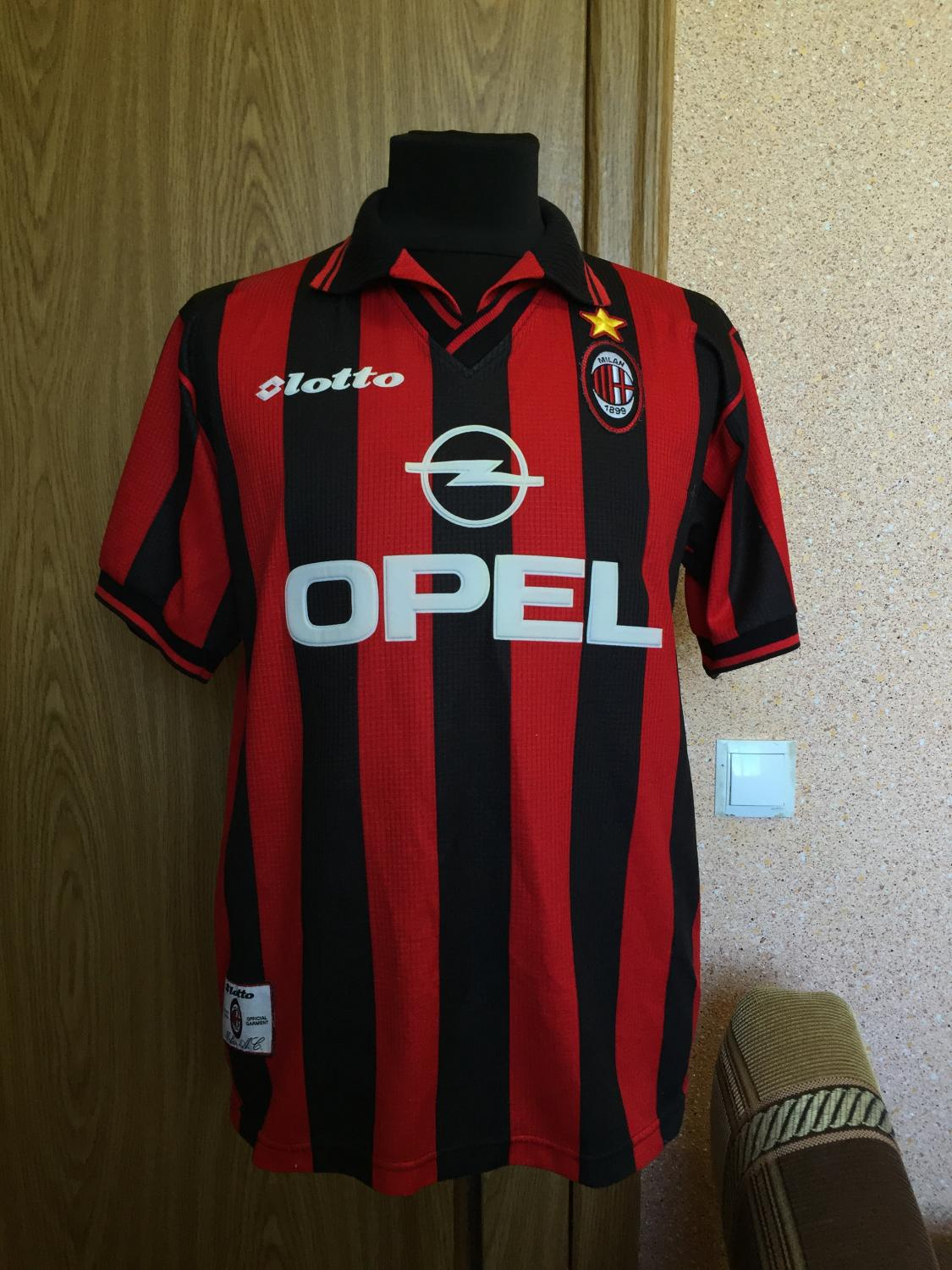 95 2000 acmilan shits for Classic house 1998