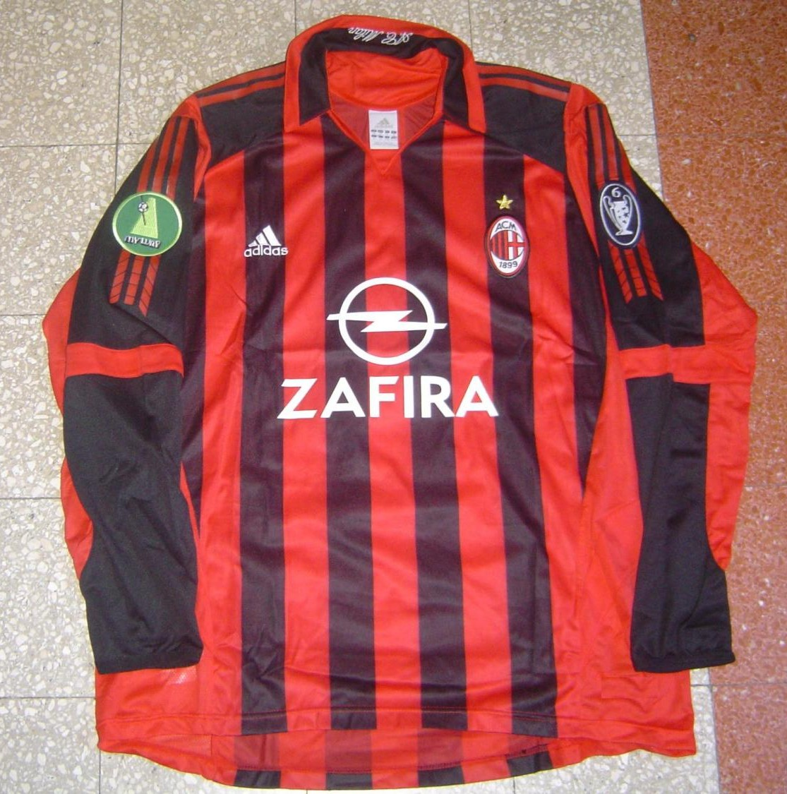 AC Milan Home футболка 2005 2006. Sponsored by Opel zafira