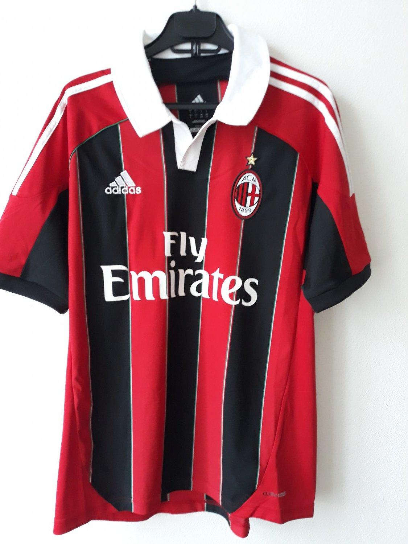 AC Milan Home Camiseta de Fútbol 2012 - 2013. Sponsored by Emirates d13279febc8fd