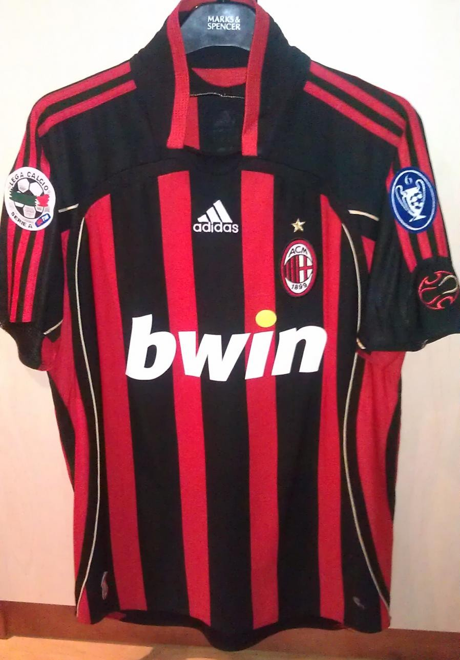 AC Milan Home футболка 2006 2007. Sponsored by Bwin